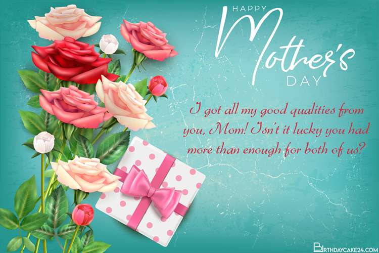 Write Wishes on Rose Flower Cards for Your Mother