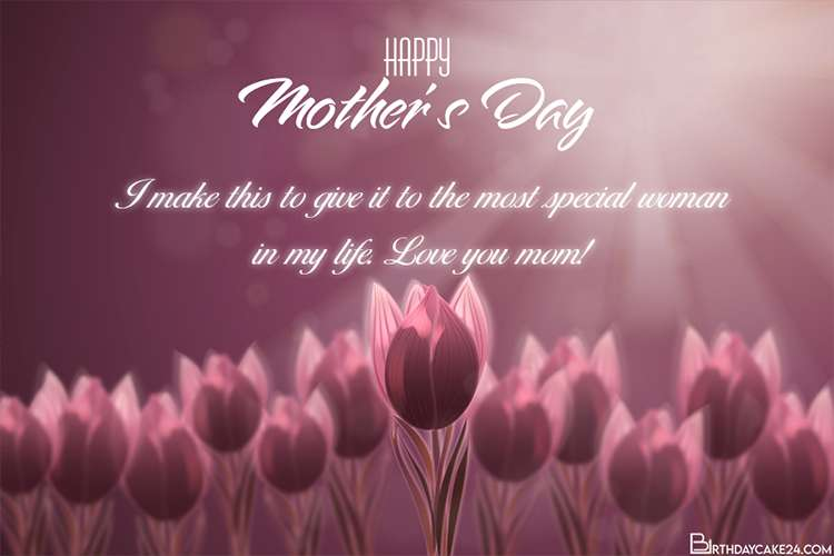 Customize Your Own Floral Mothers Day Card Images