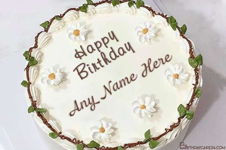 Creative Flower Birthday Cakes With Name Edit