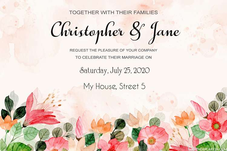 Best Free Editor Wedding Invitation Cards With Flowers