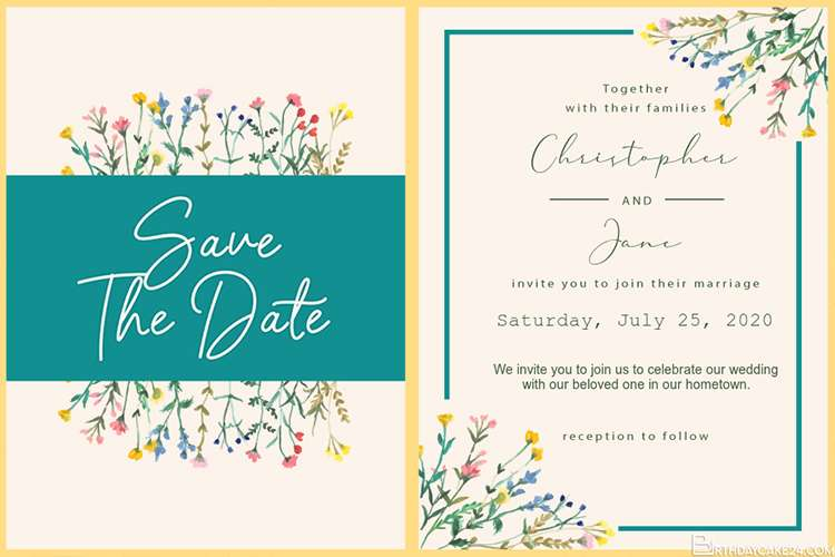 Wedding Save the Dates And Invitations Cards Maker Online