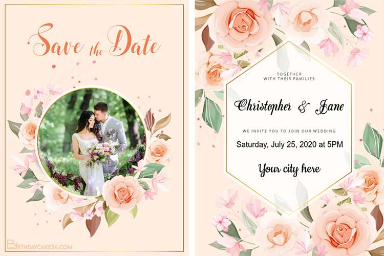 Create Your Own Floral Wedding Invitations Card Design