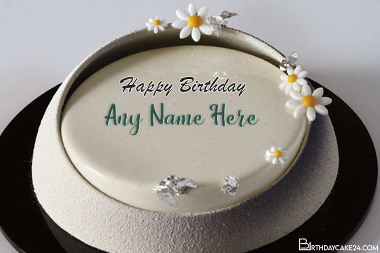 Best Flower Birthday Cake With Name Edit