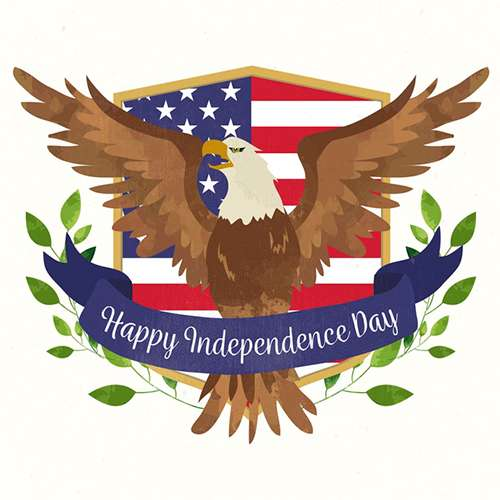 4th of July Independence Day USA Cards