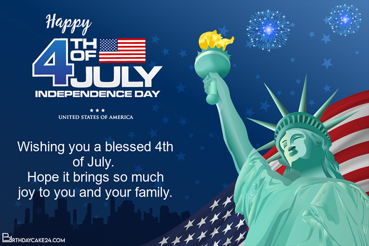 Happy 4th of July - Independence Day Cards Online