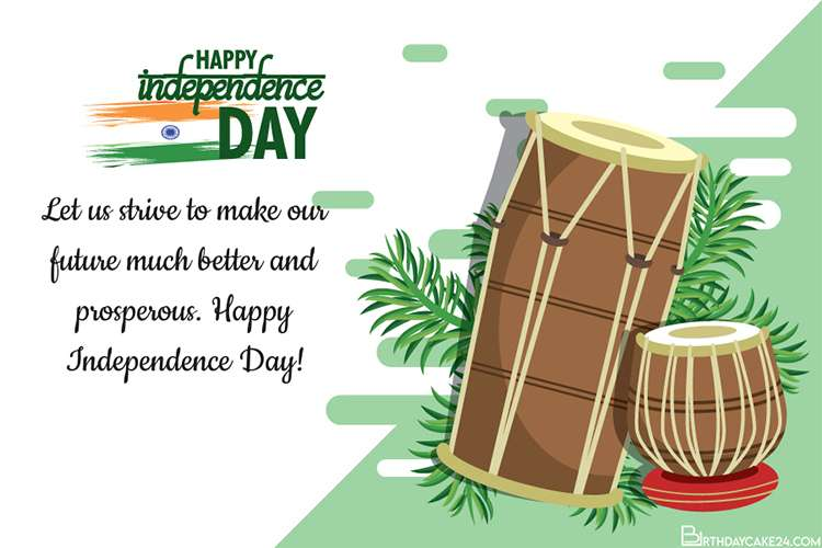 Personalize Your Own India Independence Day Card