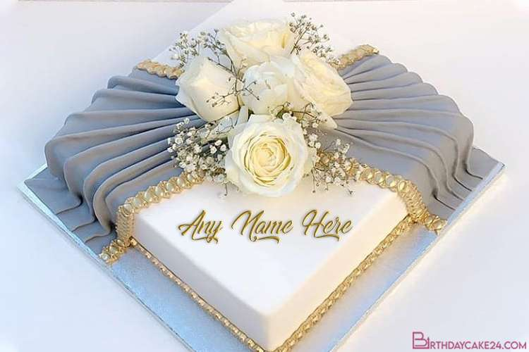 Creative Romantic Wedding Anniversary Cakes With Name