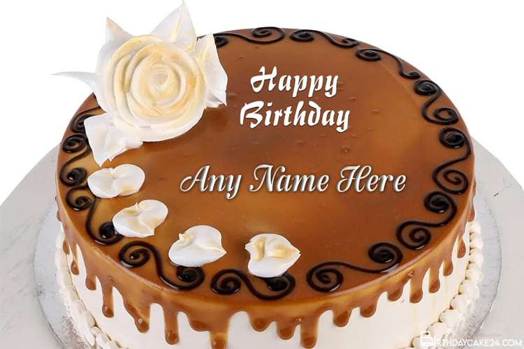 Free Chocolate Happy Birthday Cake By Name Editing