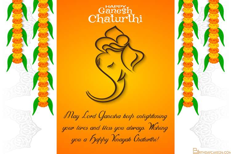 Free Happy Ganesh Chaturthi Greeting Card Templates