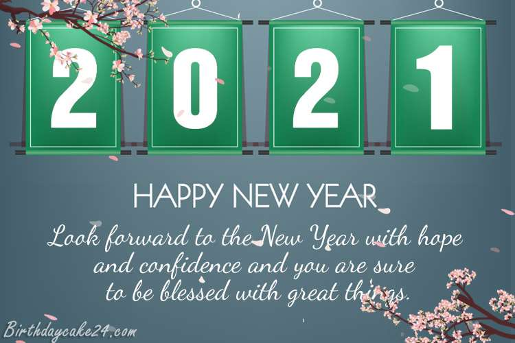 New Year's 2021 Flower eCards & Greeting Cards Online