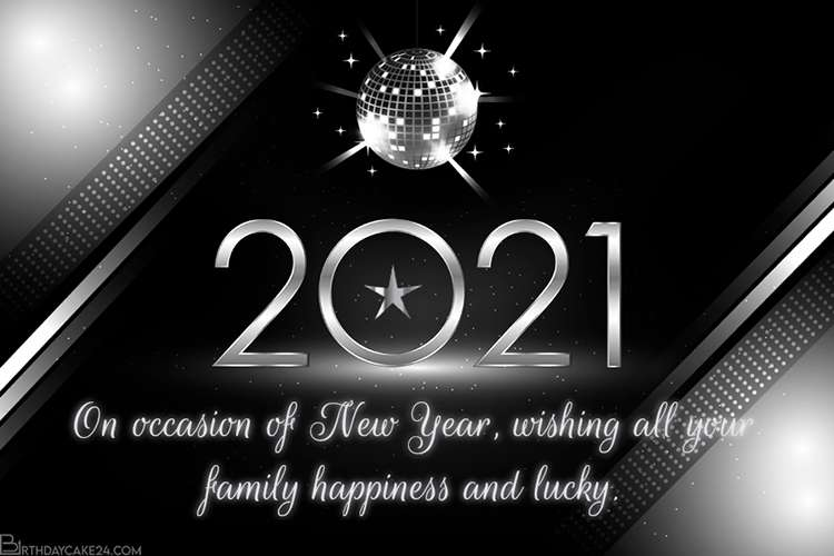 free online silver happy new year 2021 card maker free online silver happy new year 2021