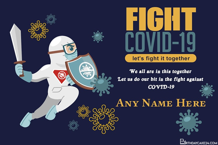 Fight Against Coronavirus Together Greeting Cards