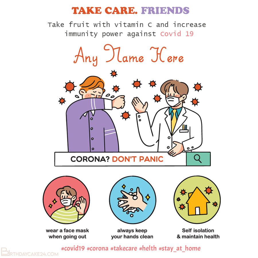 Create A Card To Prevent The Spread Of Coronavirus To Friends