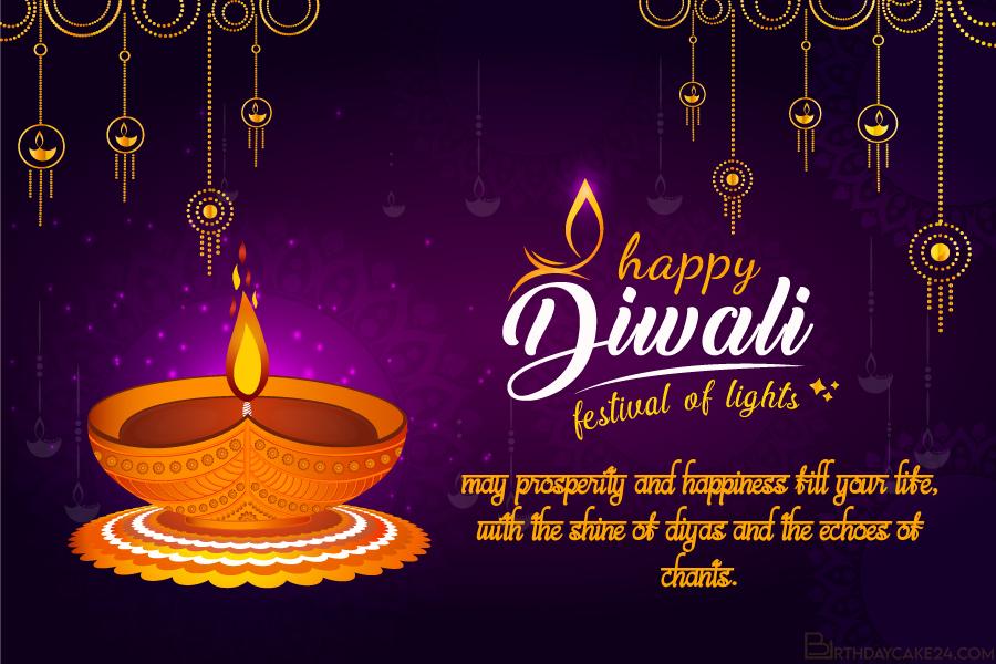 free diwali festival of lights greeting cards maker online
