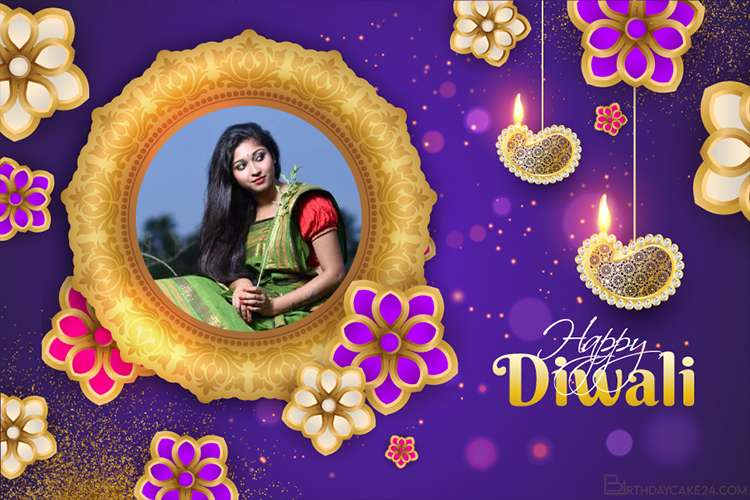 Personalize Diwali Cards With Your Photo Frames