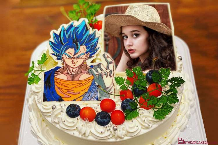 Dragon Ball Birthday Cake With Photo Frames