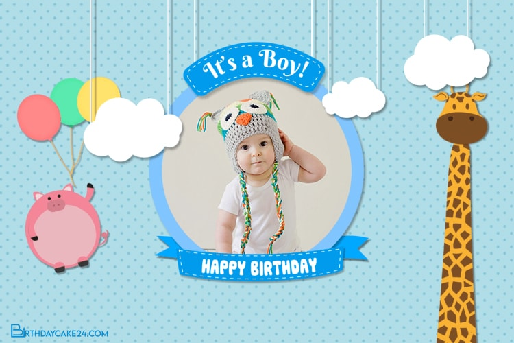 Happy Birthday Video Card For Boy With Photo Edit