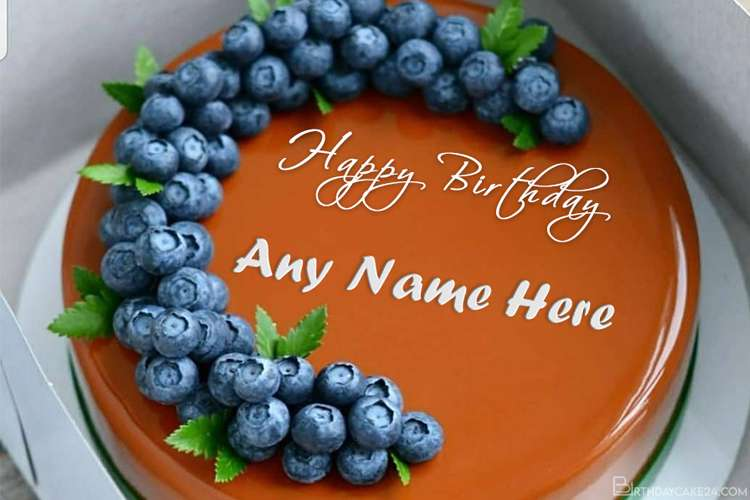 Blueberry Caramel Birthday Cake With Name Generator