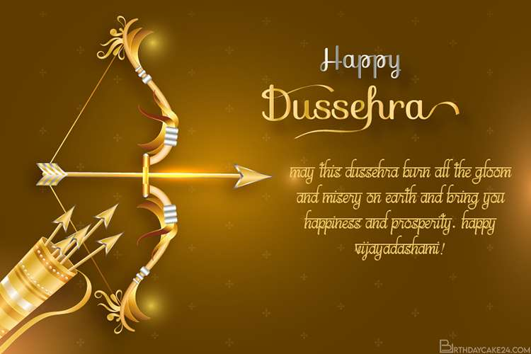 Create Dussehra Wishes Card With Name Pictures