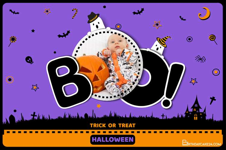 Funny Boo Halloween Picture Frames With Photos