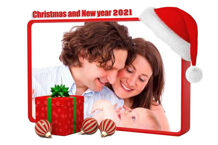 Frame Christmas & Happy new year 2021