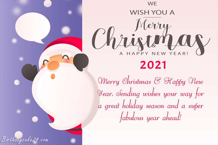 Christmas And New Year Wishes Card for 2021
