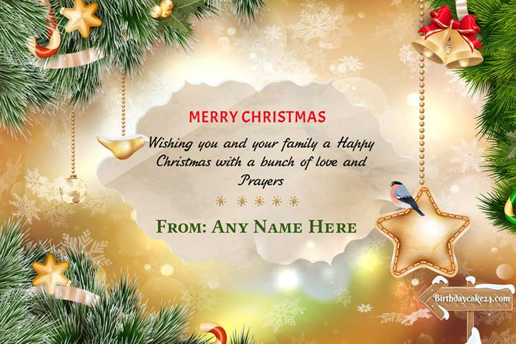 Decorate Sparkling Christmas Cards With Your Name