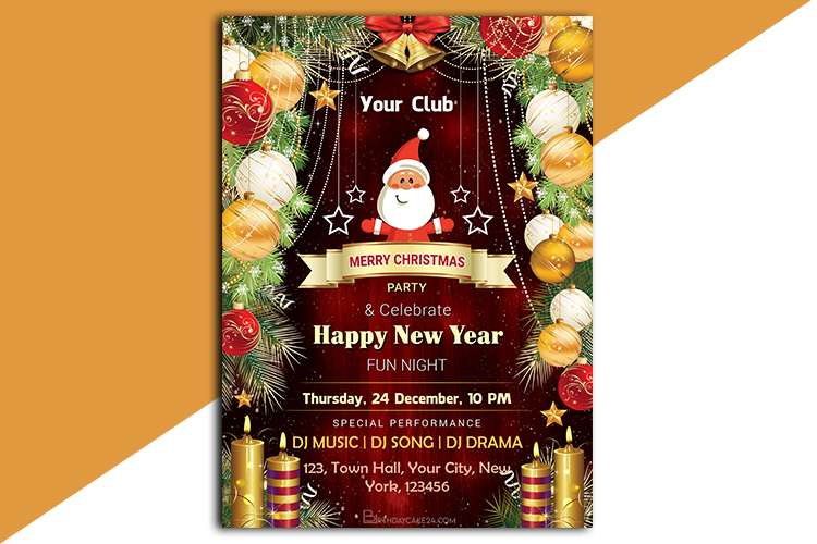 Christmas's Eve Invitation Templates (Free)