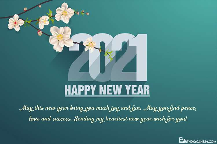 Happy New Year 2021 Greetings Card With Name Wishes