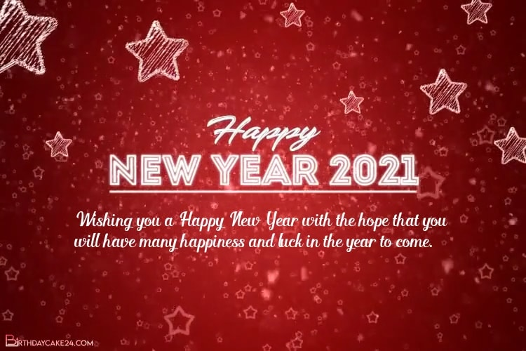 Create New Year Greeting Video 2021 With Name Wishes