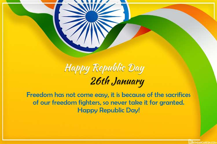 Make Republic Day Celebration 2021 Card Free Download