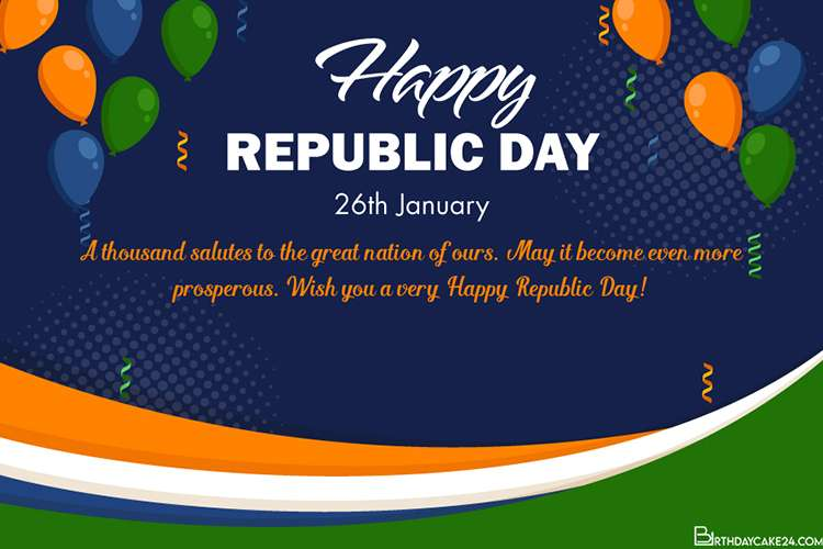 Best Republic Day ( India ) Wishes Card Images