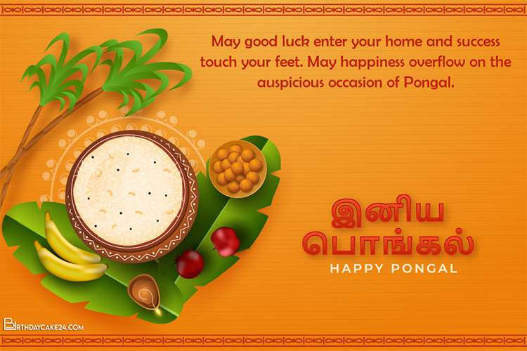 Beautiful Pongal Greeting Cards In Tamil Free Download