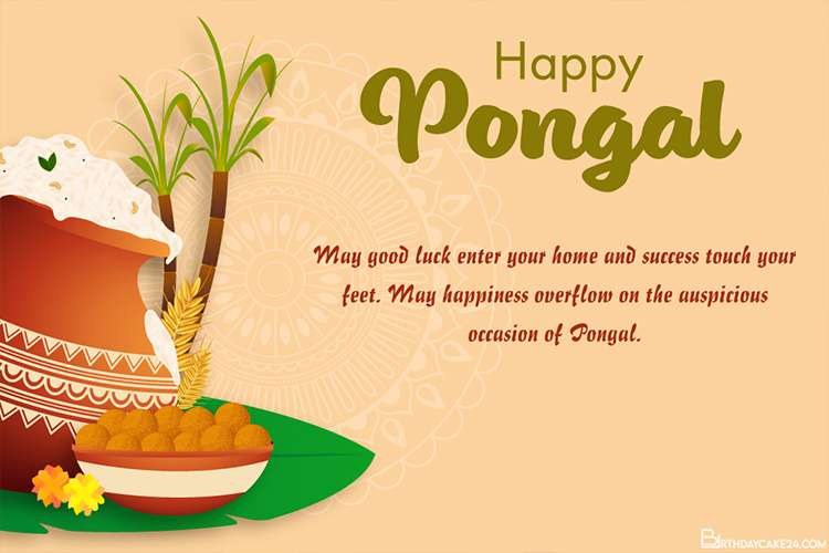 Simple Pongal Greeting Card Online Free