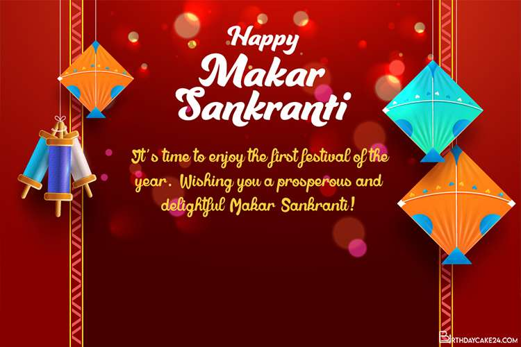 Customize Your Own Happy Makar Sankranti Greeting Card