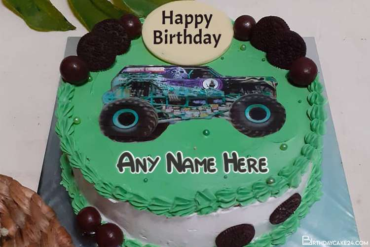 Car Birthday Wishes Cake For Boys With Name