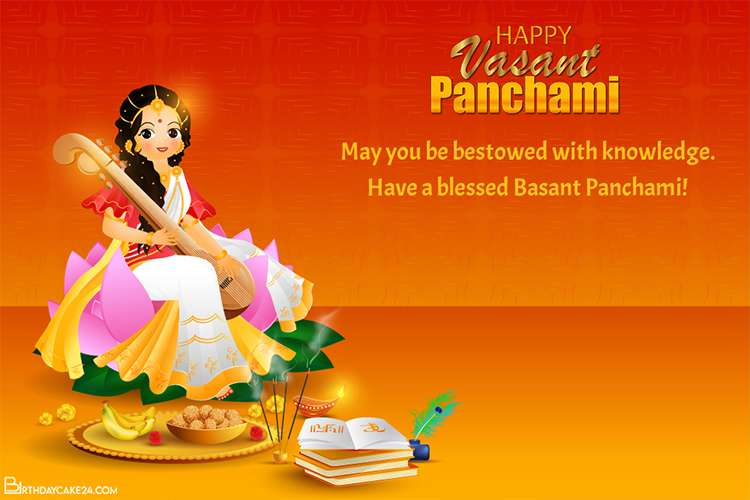 Free Online Vasant Panchami Wishes Cards Images