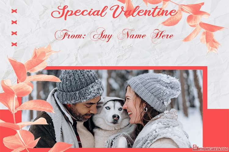Happy Valentines Day 2021 Card With Name And Photo