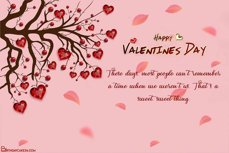 Heart Tree Valentine's Day Card Images Download