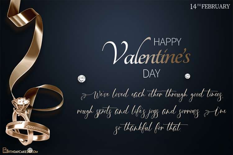 Luxury Ring Diamond Valentines Day Cards