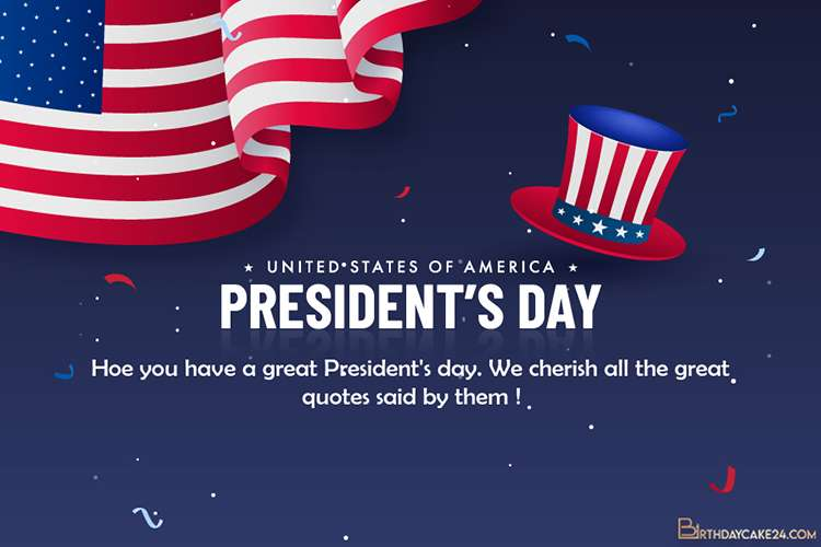 Free President's Day Greeting Cards Maker Online