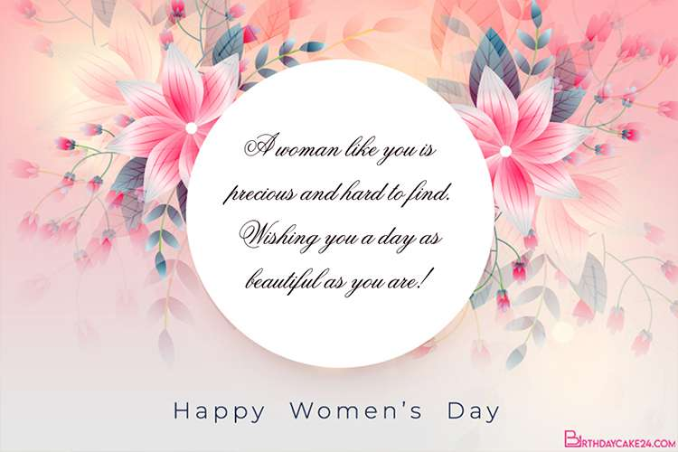 Latest Floral International Happy Women's Day Card Images