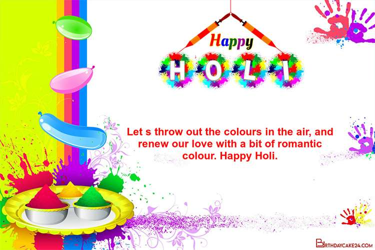 Personalize Your Own Happy Holi Greeting Card Images