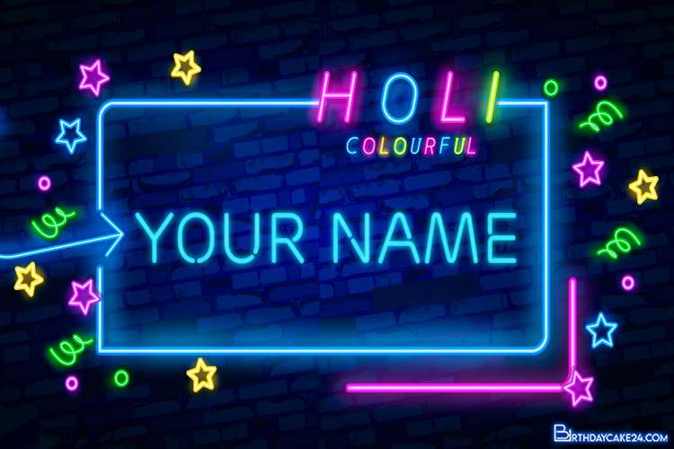 Holi Neon Signs Style Text Effect Online