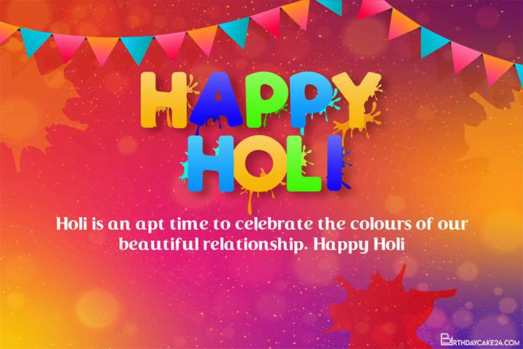 Customize Your Own Colorful Holi Greeting Cards