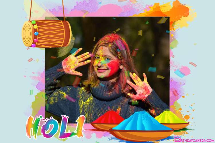 Free Cards And Frames For Holi Festival With Your Photo