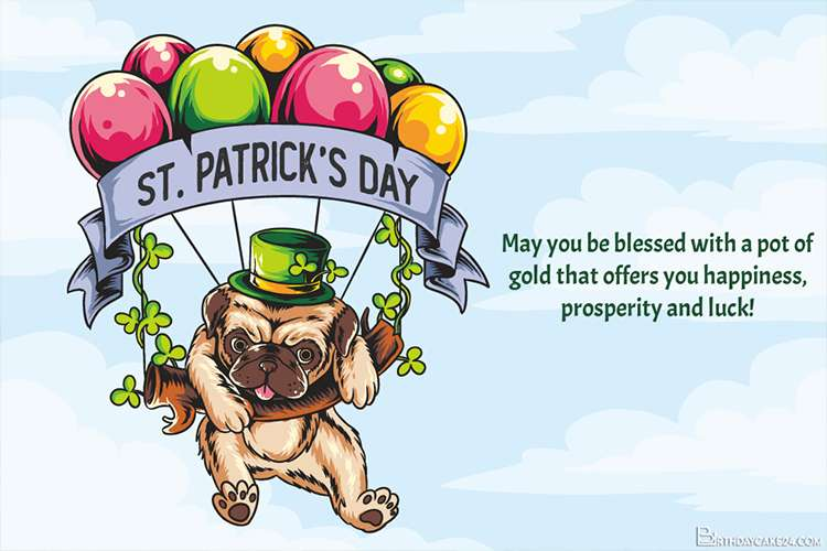 Funny Pug St Patrick's Day Card In 2021