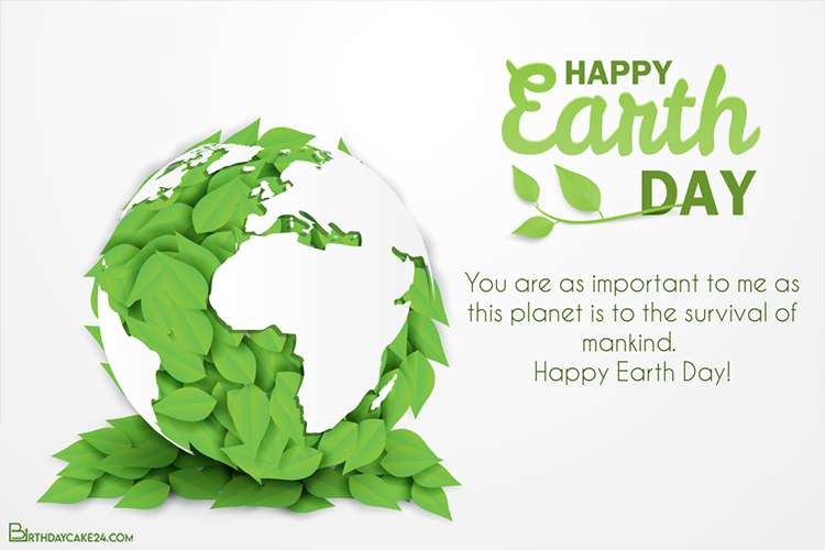 Customize Earth Day Card With Your Name Wishes