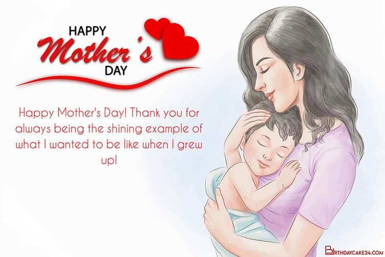 Hand Drawn Mother And Child Mother's Day Greeting Card for 2021